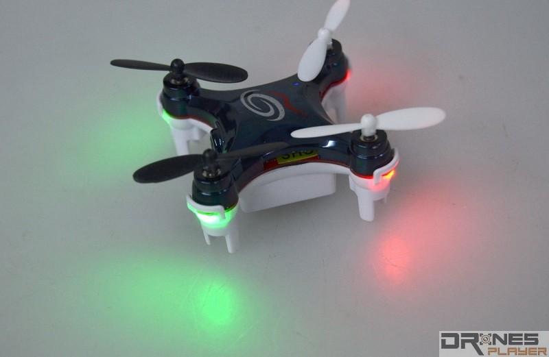 RC101W 機身四邊都設有 LED 燈號,方便用家辨認機頭方向。