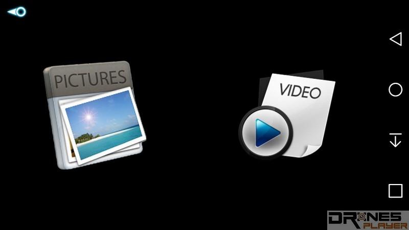 《RC-Leading》app 內的影片、相片管理介面。