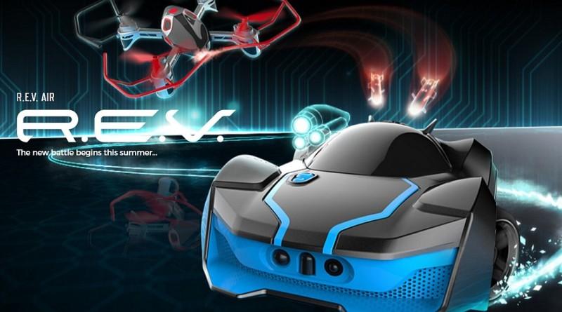 Rev Air 無人機搭遙控車 空陸對戰陣形新玩法