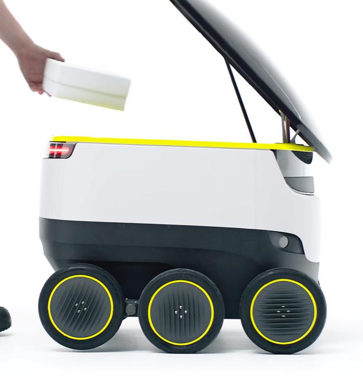 Ground Drones 無人車最多可負載 20 磅。