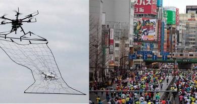 東京馬拉松防恐襲 天網無人機‧監察空拍機高度戒備
