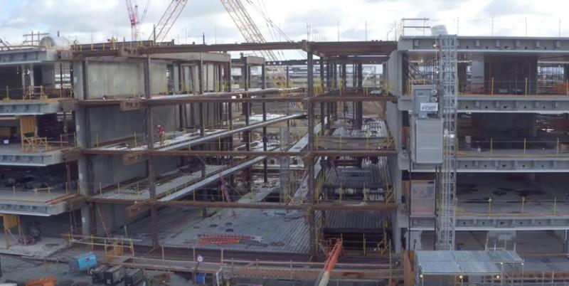 蘋果新總部主體建築已有基本結構。