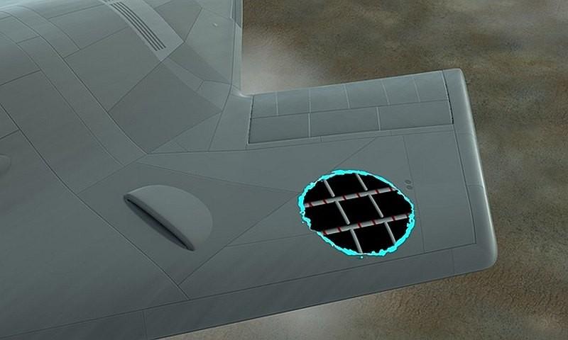 具備 Survivor 技術的無人機機翼和機身內布滿鋪有黏合劑的納米碳管。