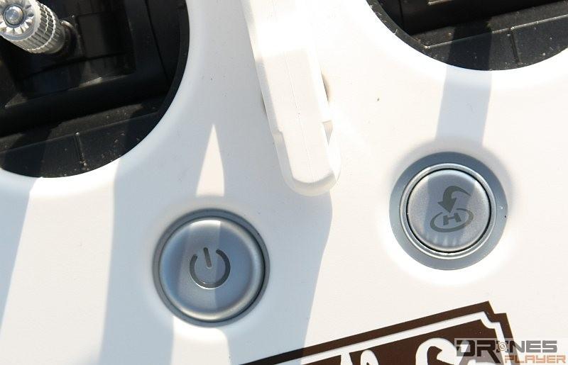 P3 Professional 的遙控器上有獨立的返航鍵。