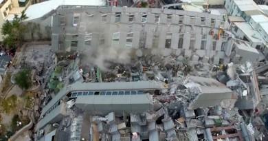 台灣地震!台南維冠金龍大樓倒塌 空拍畫面曝光