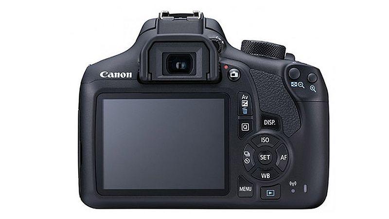 Canon EOS 1300D 機身背面介面布局