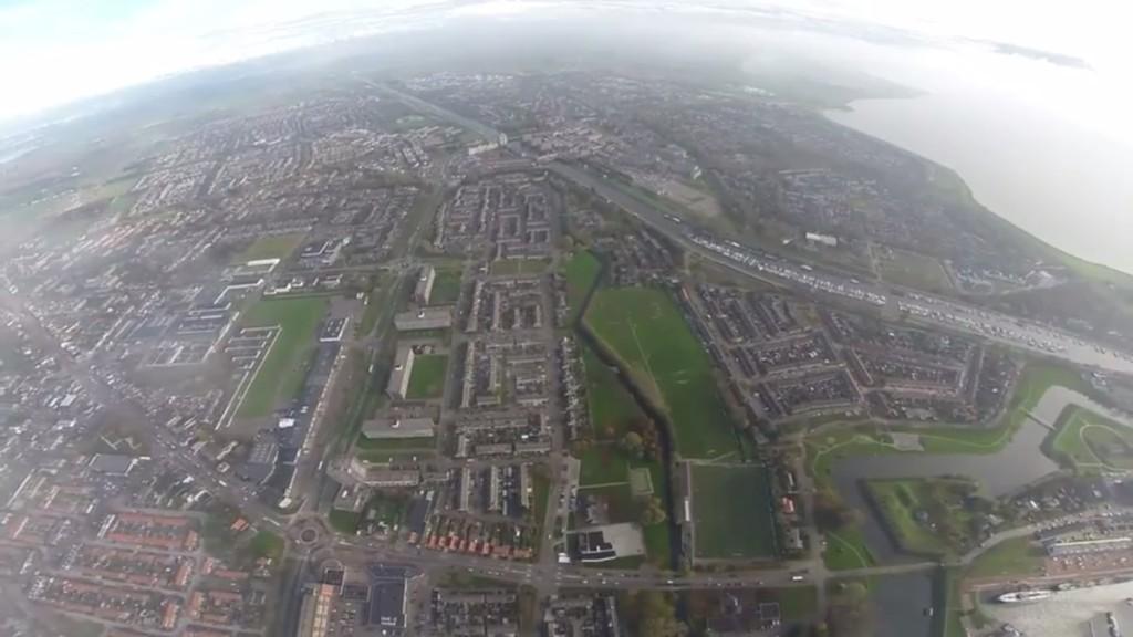 DJI Phantom 2 1km aerial view
