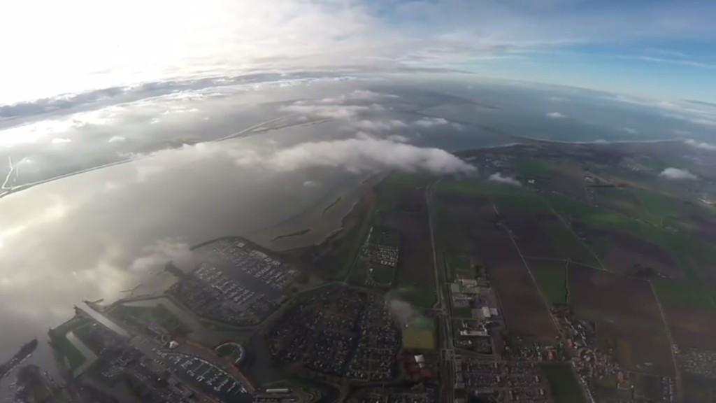 DJI Phantom 2 3.4km aerial view