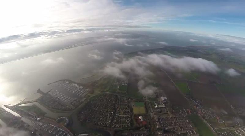 DJI Phantom 2 飛上 3.4 公里