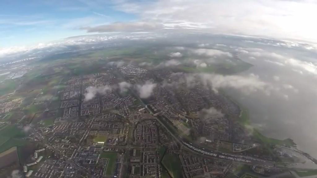 DJI Phantom 2 3km aerial view