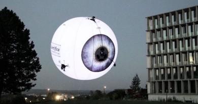 【CeBIT 2016】Skye 無人機變身球形投影環幕 出租廣告位