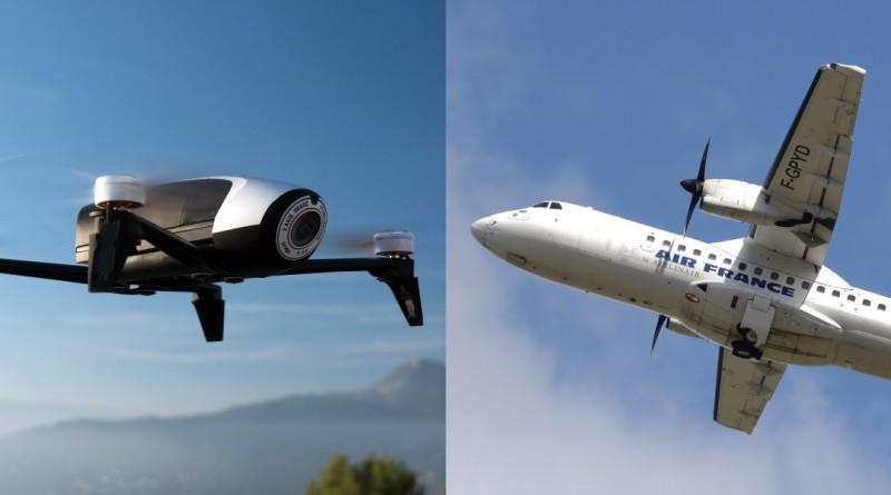 法航無人機 5 米險撞