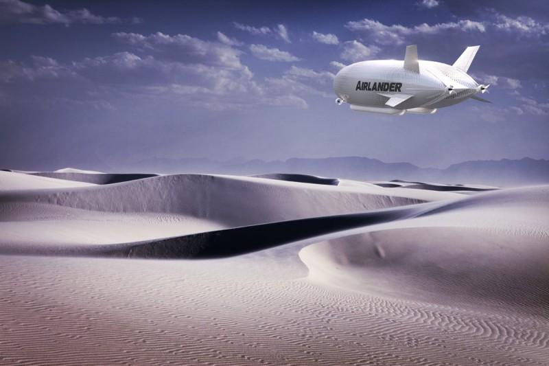 Airlander 10 未來或可飛至沙漠等極地,垂直升降。