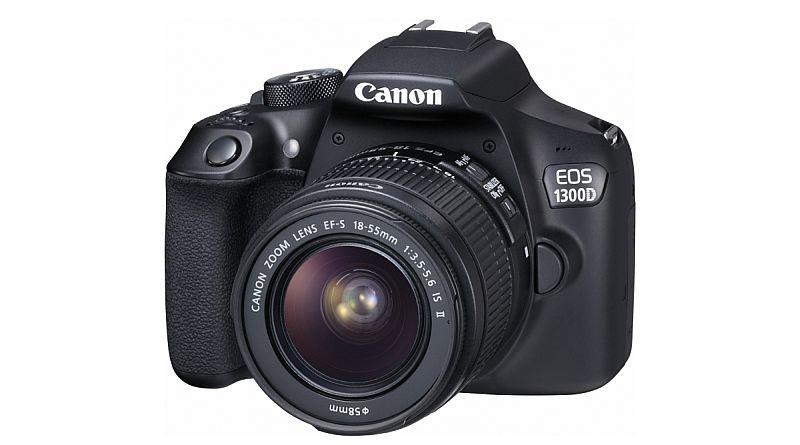 Canon EOS 1300D 機身正面的模樣,跟前作 1300D 分別不大。