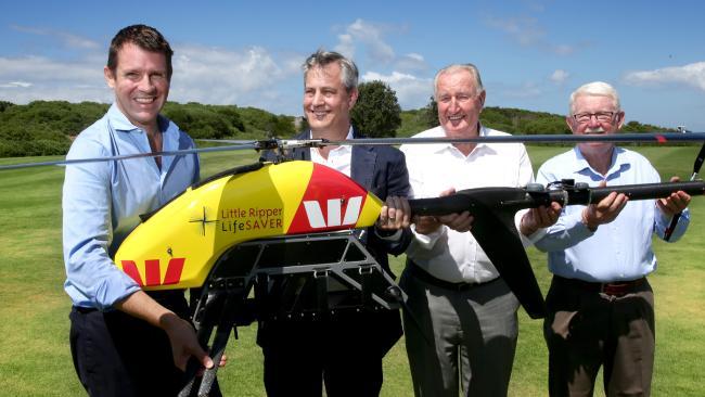 救生無人機 Little Ripper 被視為未來救援的重要工具。