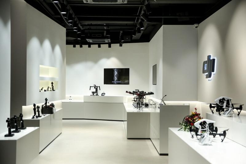 DJI 首爾旗艦店產品展示區