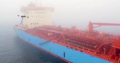 全球首宗案例!Maersk 送貨無人機空投包裹至海上貨輪