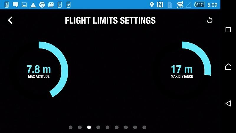 無人機的設定中,一般都可選擇限制飛行高度和速度。