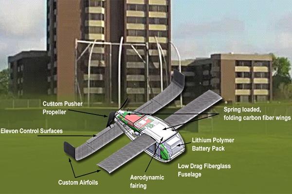 Perdix 微型無人機解構圖