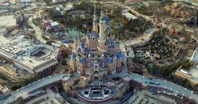 上海迪士尼空拍露全貎 奇幻童話城堡已拆腳手架