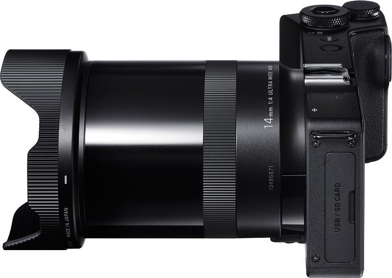 Sigma sd Quattro 無反相機的機身非常纖細。