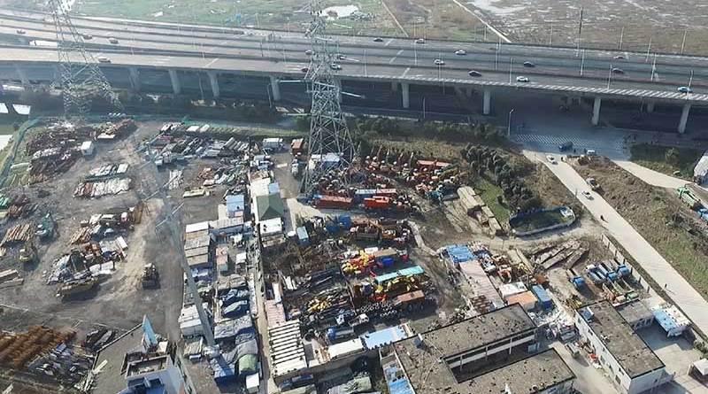 清拆上海迪士尼旁的川楊河