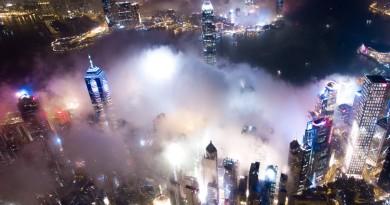 航拍香港的日與夜,俯瞰一個城市的光與影