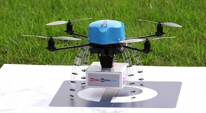 圖中為澳洲郵政現正測試原型無人機,日後推出的正式版本還會裝配高清航拍相機、警報器、降落傘和燈號。