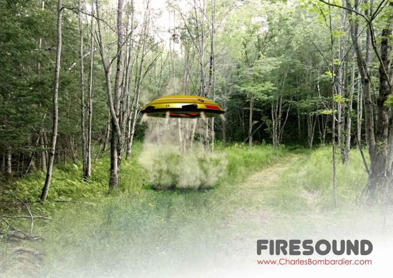 Firesound 底部噴氣可助垂直升降。