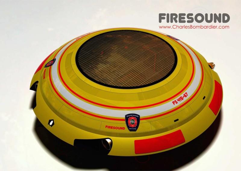 Firesound 的紅黃色 UFO 幽浮飛碟,十分搶眼。