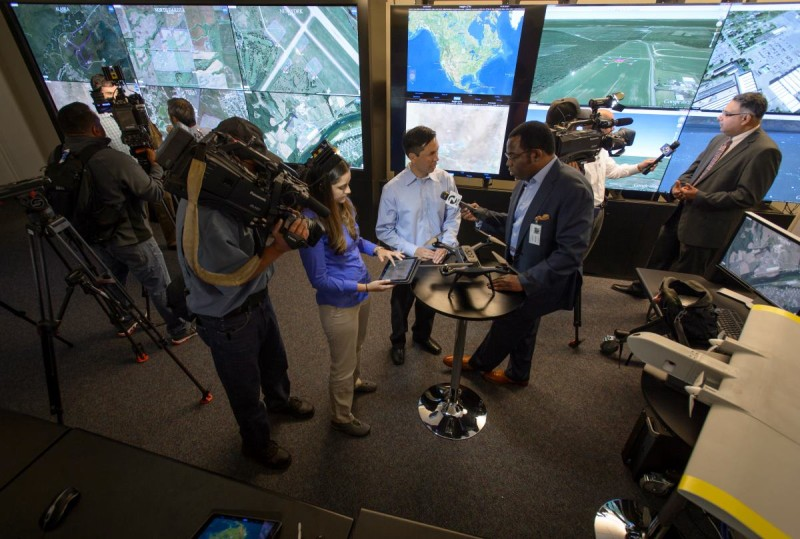 NASA UTM 系統首個跨州測試接受傳媒訪問