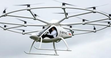18 軸飛行器 Volocopter VC200 載人試飛成功  可紓緩交通擠塞