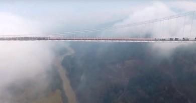 亞洲最長吊橋龍江特通車 航拍霧海中的雲南最美公路