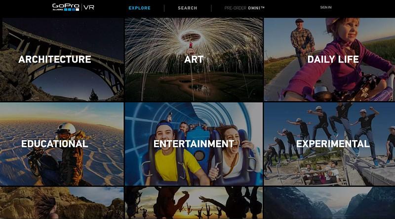 GoPro 推出自家 VR 影片分享平台 GoPro VR