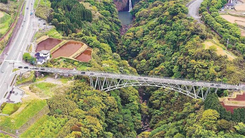 阿蘇大橋是當地著名景點。