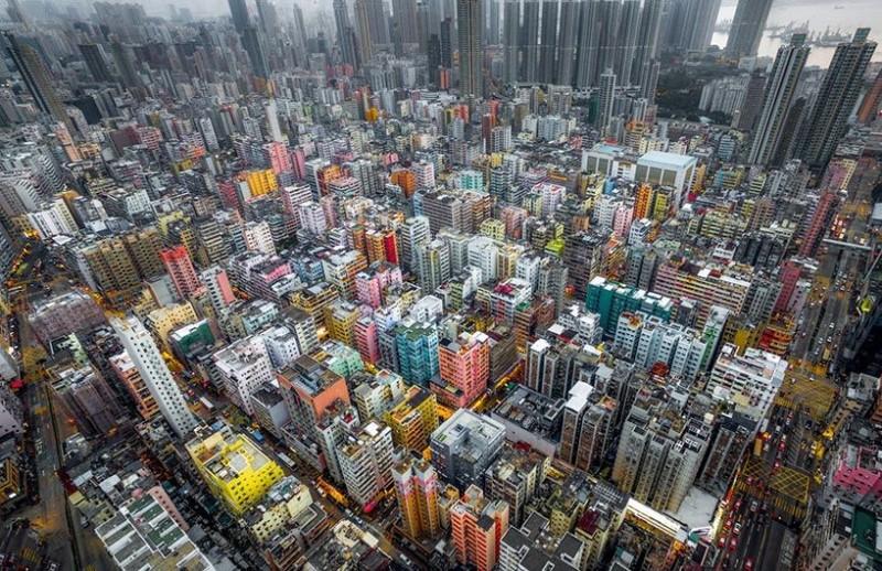 Andy Yeung 航拍作品系列《Urban Jungle》之二:深水埗。(圖片來源:Andy Yeung Photography)