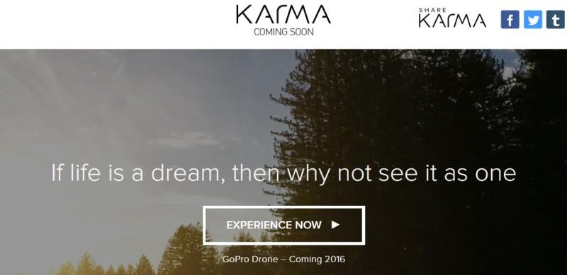 GoPro Karma 網站