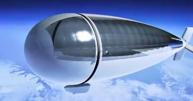 無人機•衛星混合體 太陽能飛船 Stratobus 衝上平流層自動懸停