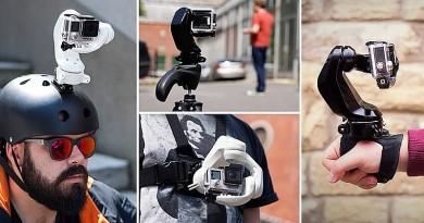 頭頂•胸口•手腕任穿戴!VR 體感操控三軸電動雲台 Sybrillo