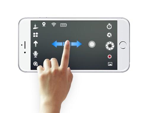 零度智控 Dobby 無人機支援觸摸式手勢操控方法。