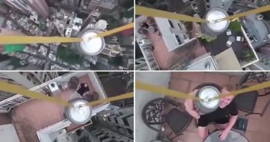 無人機用橡皮筋吊運啤酒!香港驚現超危險空運場面