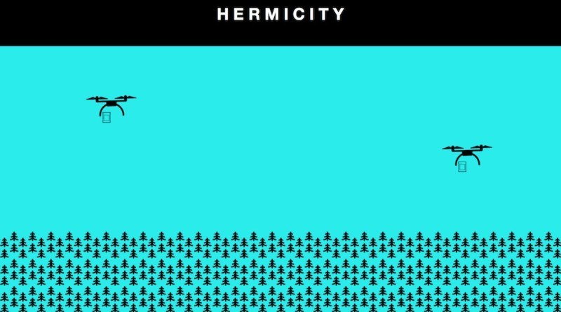 hermicity 無人機 城市 概念