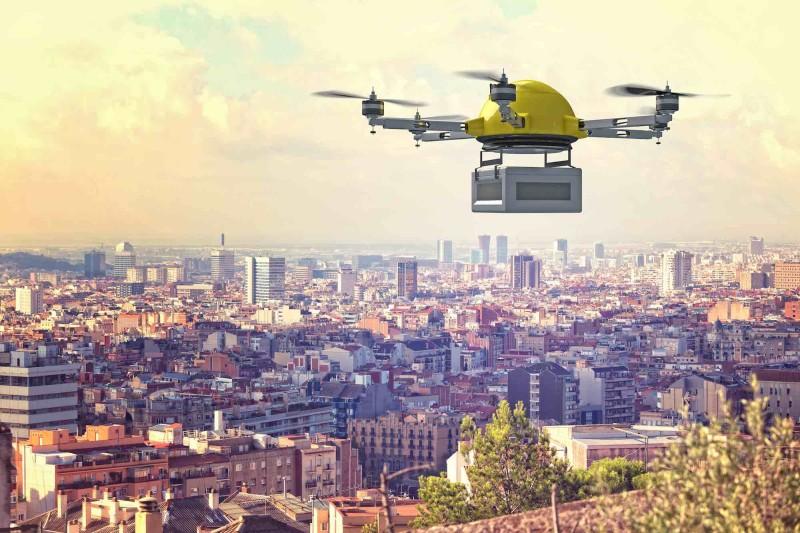 無人機送貨是整個概念的骨幹。
