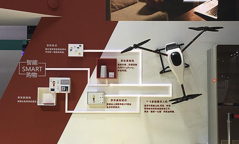 京東擬利用送貨無人機實現智能購物方案。