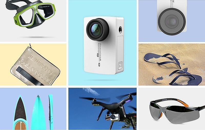 小米官方發放的宣傳圖片中,可見小蟻 4K 相機能安裝在 3D Robotics Solo 無人機作航拍之用。
