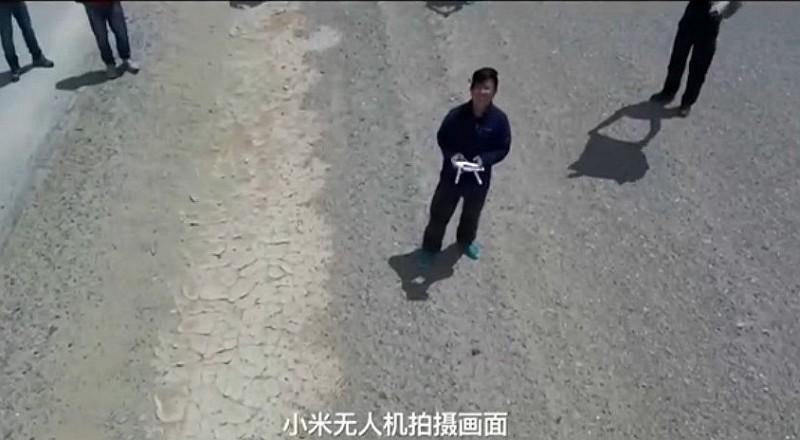 小米無人機的航拍畫面