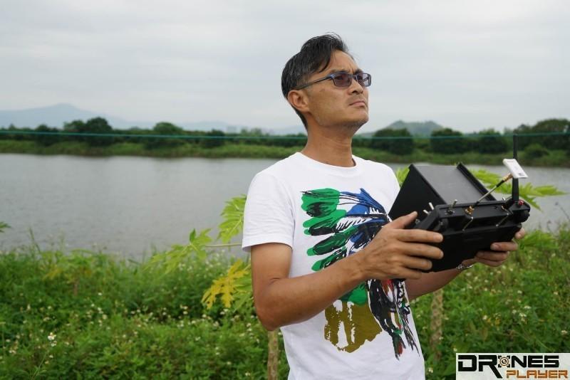 Ming 表示,無人機的圖傳距離易受外在環境因素影響。