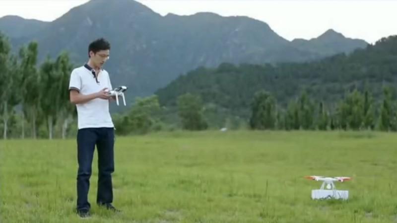 小米無人機發布會播放的放飛示範