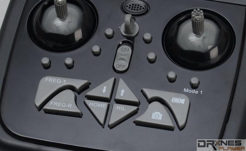 Cheerson CX-35 控制器設有獨立航拍、拍照鍵。