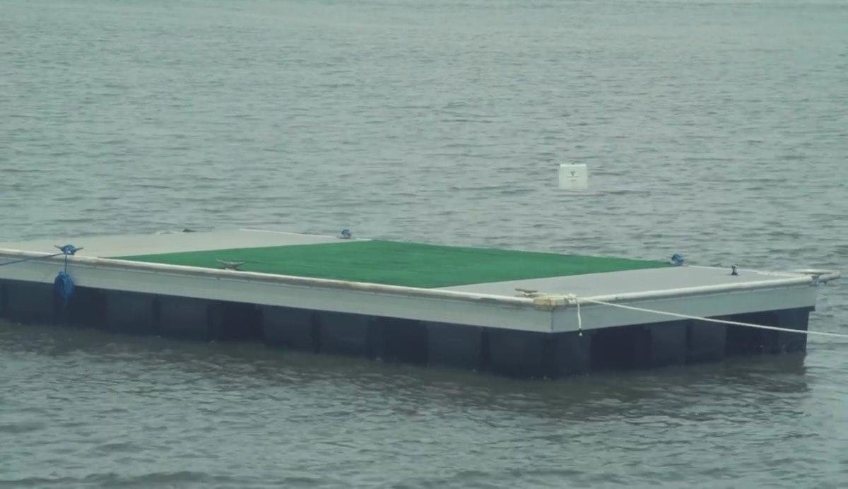 Flirtey 無人機送貨到海上